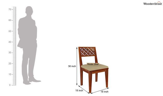 Cambrey 8 Seater Dining Set (Honey Finish)-10