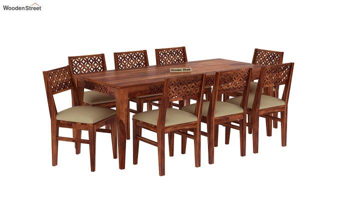Cambrey 8 Seater Dining Set (Honey Finish)-2
