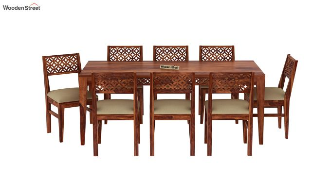 Cambrey 8 Seater Dining Set (Honey Finish)-3