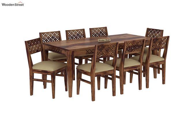 Cambrey 8 Seater Dining Set (Teak Finish)-2