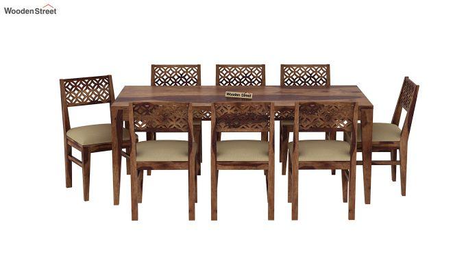Cambrey 8 Seater Dining Set (Teak Finish)-3