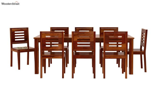 Janet 8 Seater Dining Set (Honey Finish)-4