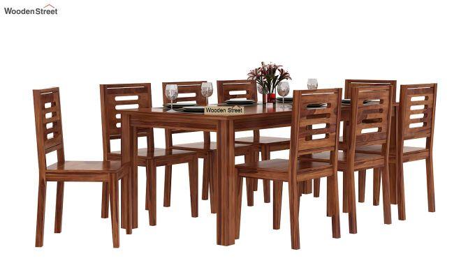 Janet 8 Seater Dining Set (Teak Finish)-1