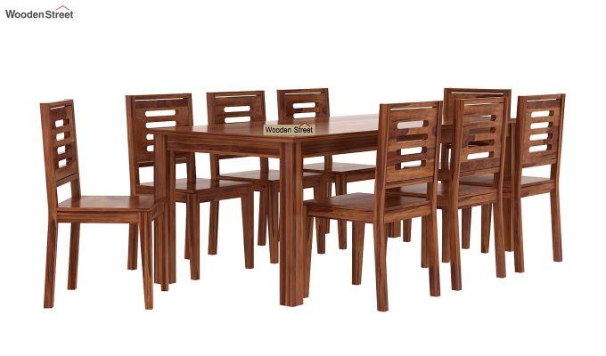 Janet 8 Seater Dining Set (Teak Finish)-2