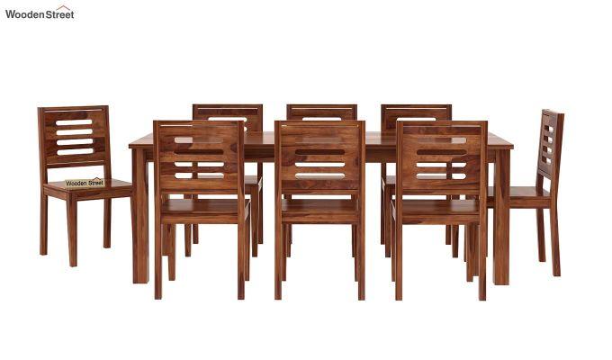 Janet 8 Seater Dining Set (Teak Finish)-3