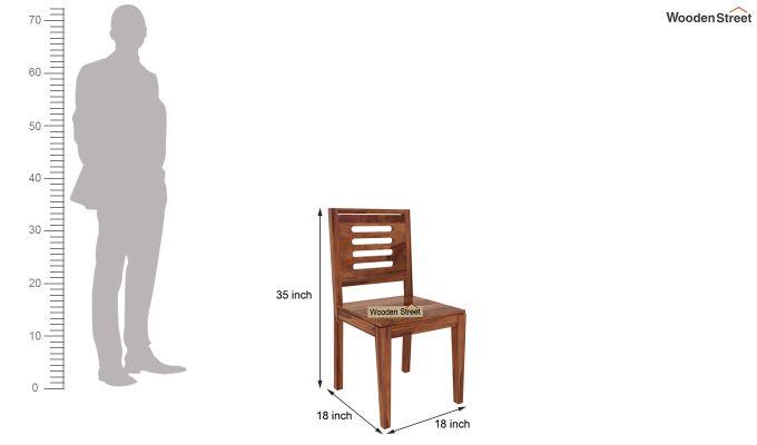 Janet 8 Seater Dining Set (Teak Finish)-9