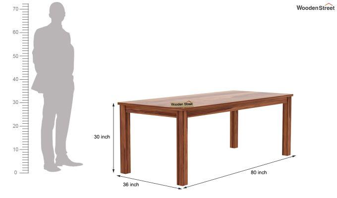Janet 8 Seater Dining Set (Teak Finish)-8