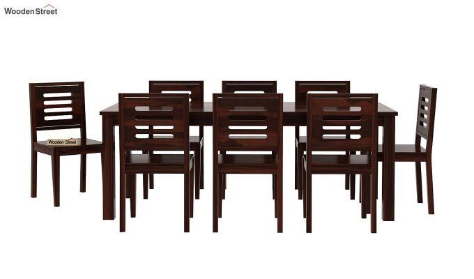 Janet 8 Seater Dining Set (Walnut Finish)-3