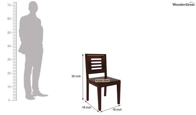 Janet 8 Seater Dining Set (Walnut Finish)-8