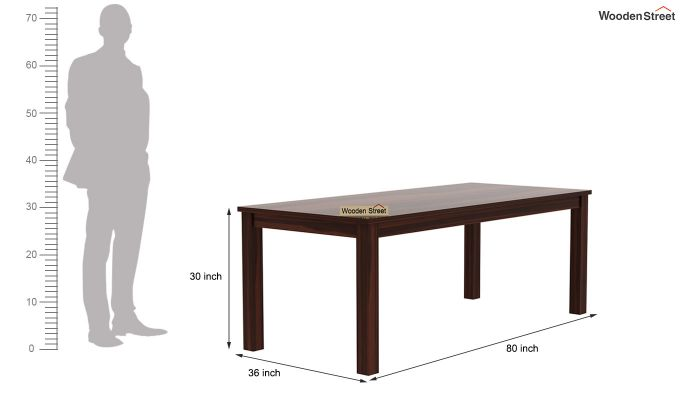 Janet 8 Seater Dining Set (Walnut Finish)-9