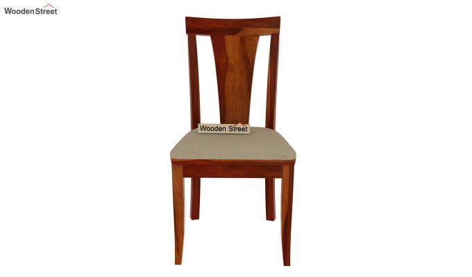 Mcbeth Storage 8 Seater Dining Set (Honey Finish)-6