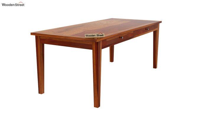 Mcbeth Storage 8 Seater Dining Set (Honey Finish)-7