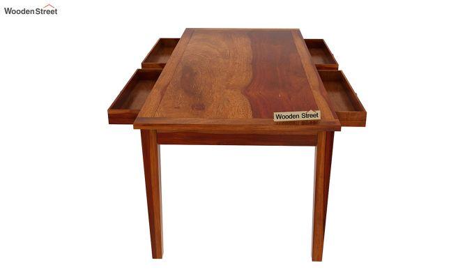 Mcbeth Storage 8 Seater Dining Set (Honey Finish)-9