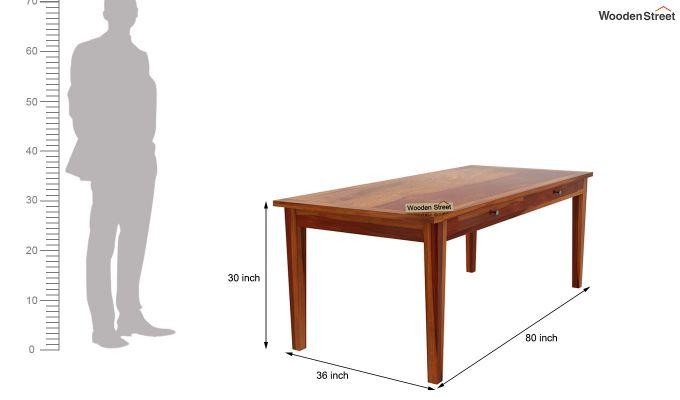 Mcbeth Storage 8 Seater Dining Set (Honey Finish)-11