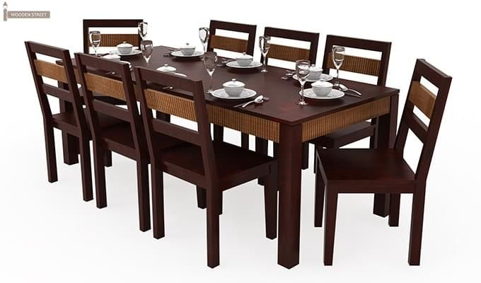 Toure 8 Seater Dining Set (Mahogany Finish)-2