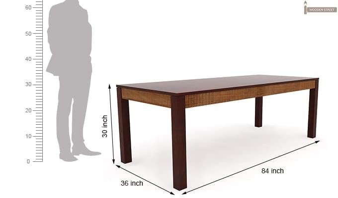Toure 8 Seater Dining Set (Mahogany Finish)-10
