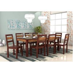 Toure 8 Seater Dining Set (Mahogany Finish)