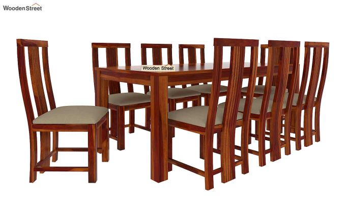Volpel 8 Seater Dining Set (Honey Finish)-3