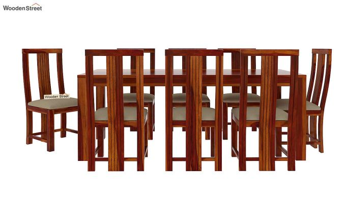 Volpel 8 Seater Dining Set (Honey Finish)-4
