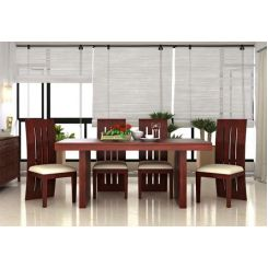 Wertex 6 Seater Dining Set (Mahogany Finish)