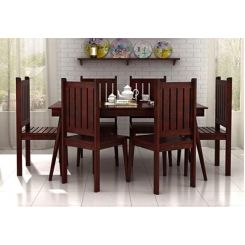 Dawson 6 Seater Dining Set (Mahogany Finish)