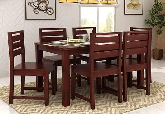 6 seater dining table: buy six seater dining table online @ 55% off