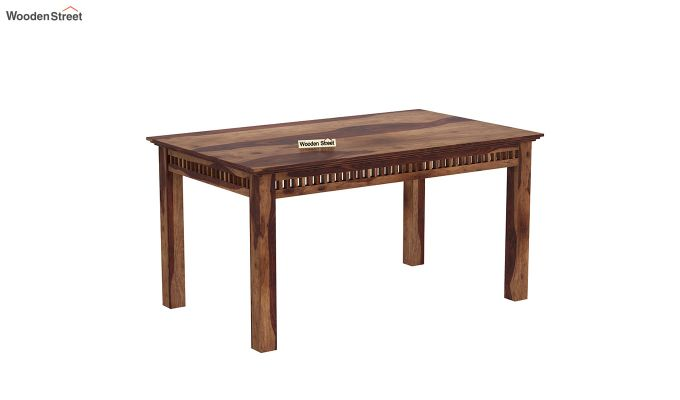 Adolph 6 Seater Dining Table (Teak Finish)-2
