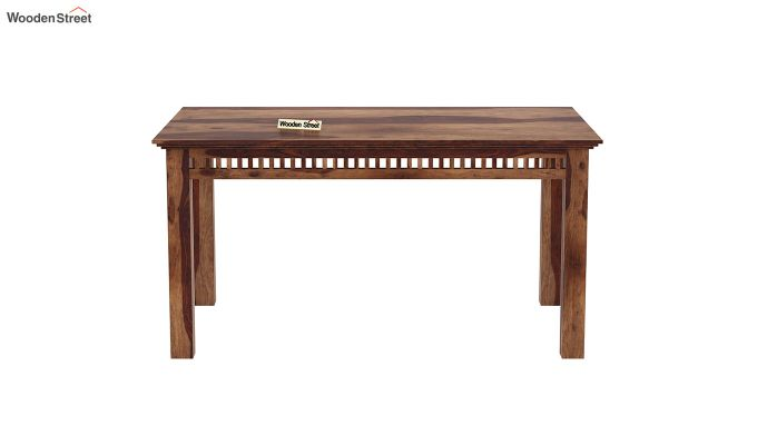 Adolph 6 Seater Dining Table (Teak Finish)-3