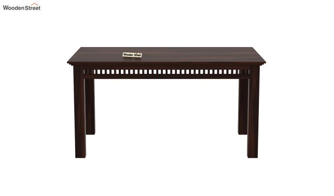 Adolph 6 Seater Dining Table (Walnut Finish)-3
