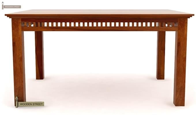 Adolph 6 Seater Dining Table (Honey Finish)-5