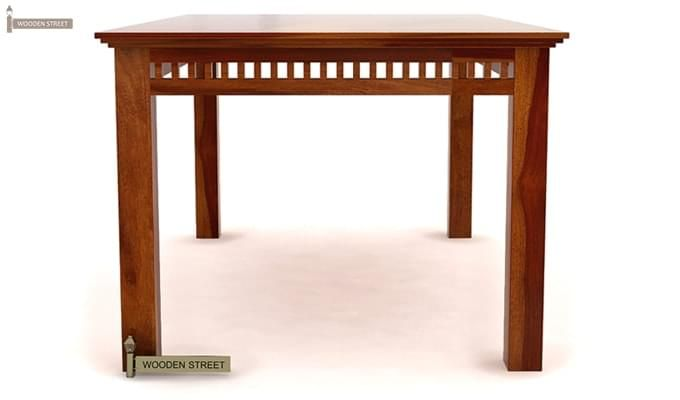 Adolph 6 Seater Dining Table (Honey Finish)-4