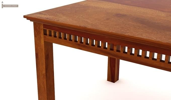 Adolph 6 Seater Dining Table (Honey Finish)-6