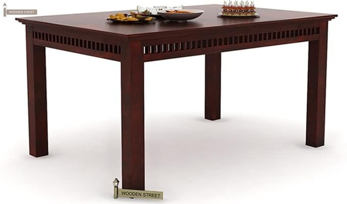 Adolph 6 Seater Dining Table (Mahogany Finish)-1