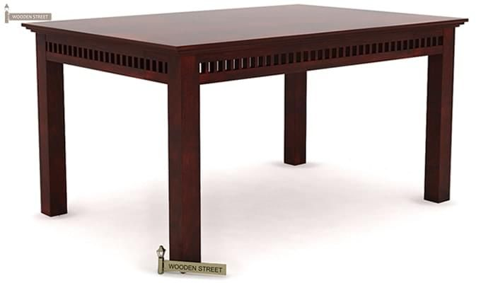 Adolph 6 Seater Dining Table (Mahogany Finish)-2