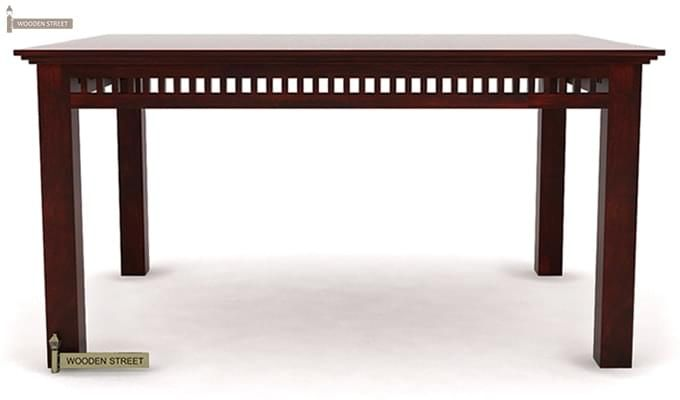 Adolph 6 Seater Dining Table (Mahogany Finish)-3