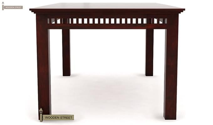 Adolph 6 Seater Dining Table (Mahogany Finish)-4