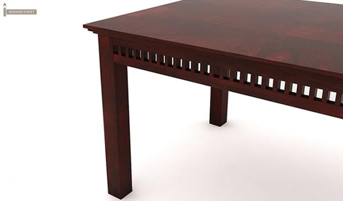 Adolph 6 Seater Dining Table (Mahogany Finish)-5