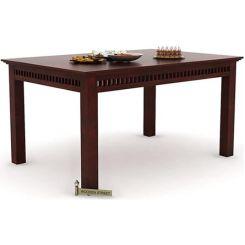 Adolph 6 Seater Dining Table (Mahogany Finish)