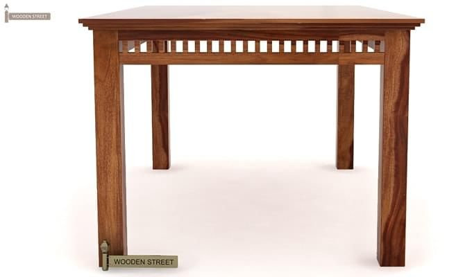 Adolph 6 Seater Dining Table (Teak Finish)-4