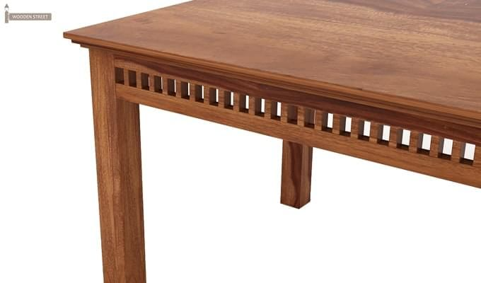 Adolph 6 Seater Dining Table (Teak Finish)-5