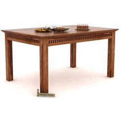Adolph 6 Seater Dining Table (Teak Finish)