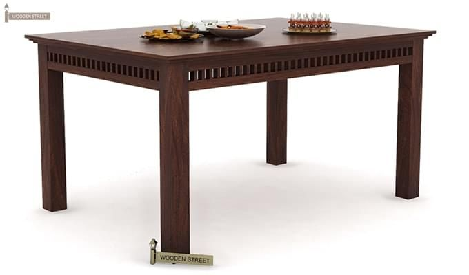 Adolph 6 Seater Dining Table (Walnut Finish)-1