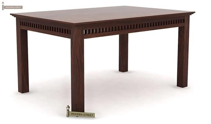 Adolph 6 Seater Dining Table (Walnut Finish)-2