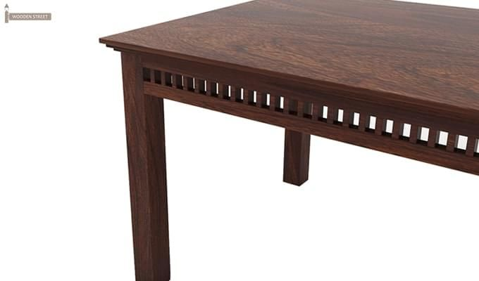 Adolph 6 Seater Dining Table (Walnut Finish)-5