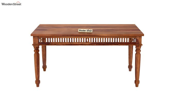 Alanis Dining Table (Honey Finish)-3