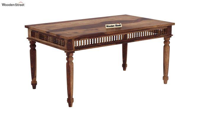 Alanis Dining Table (Teak Finish)-2