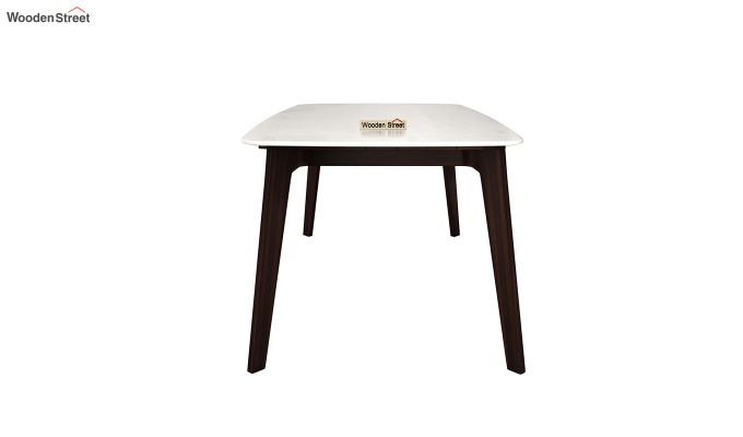 Amoha Marble Top Dining Table (Walnut Finish)-4