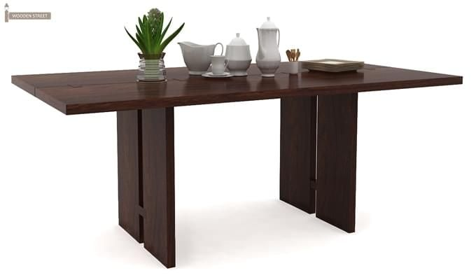 Angelia Dining Table (Walnut Finish)-1