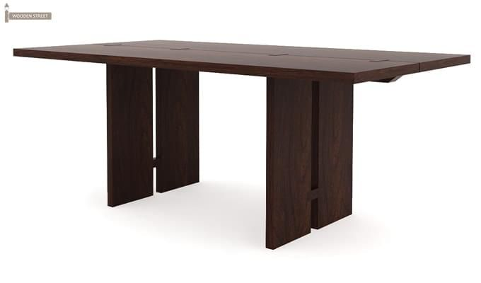 Angelia Dining Table (Walnut Finish)-4