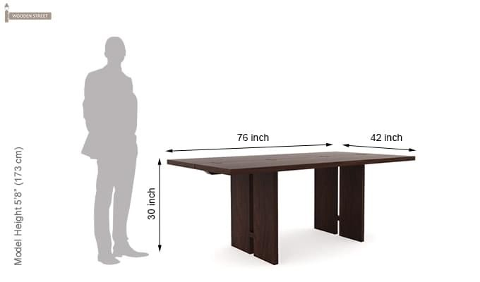 Angelia Dining Table (Walnut Finish)-5